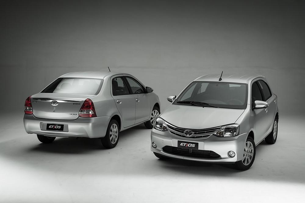 Toyota apresenta novo Etios com isenções de impostos na feira Mobility & Show, em São Paulo