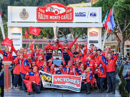 WRC: Sébastien Ogier estreia na equipe Citroën conseguindo a vitória número 100 para a marca em prov