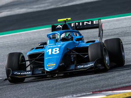 FIA F-3: Caio Collet quebra recorde da pista e lidera testes no Red Bull Ring