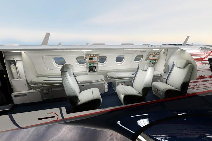 Aviação: A Embraer lança o Phenom 300MED, solução de transporte aeromédico