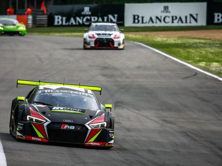 Rodrigo Baptista, Jimenez e Filipe Albuquerque, em Silverstone para o Blancpain GT Series