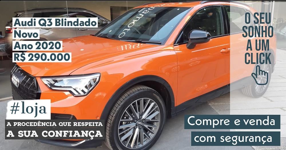 NA #LOJA PUBLIRACING - Audi Q3 Blindado- Novo 0 km