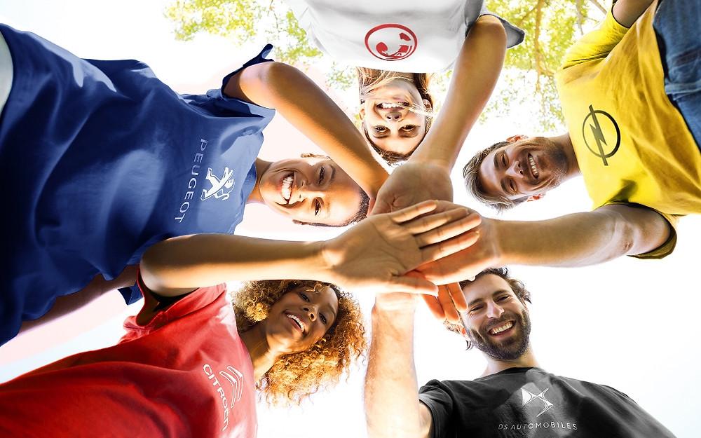 As união das cinco marcas PSA