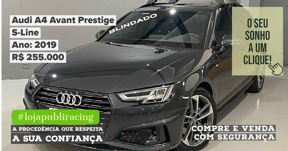 ACESSE #LOJA CLICANDO - Audi A4 Avant Prestige - Blindado - Ano 2019