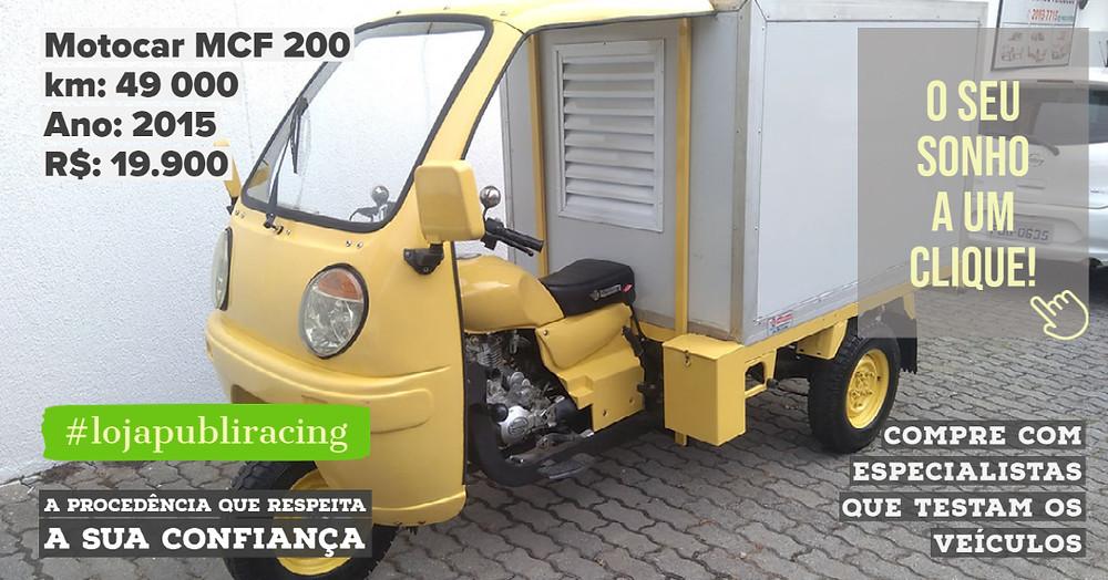 ACESSE #LOJA PUBLIRACING - Motocar MCF 200 Ano 2015