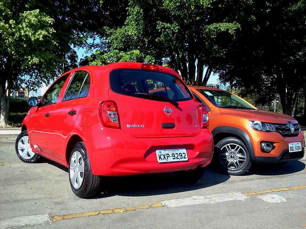 Comparativo: Renault Kwid e Nissan March, duas propostas distintas de olho no mesmo consumidor