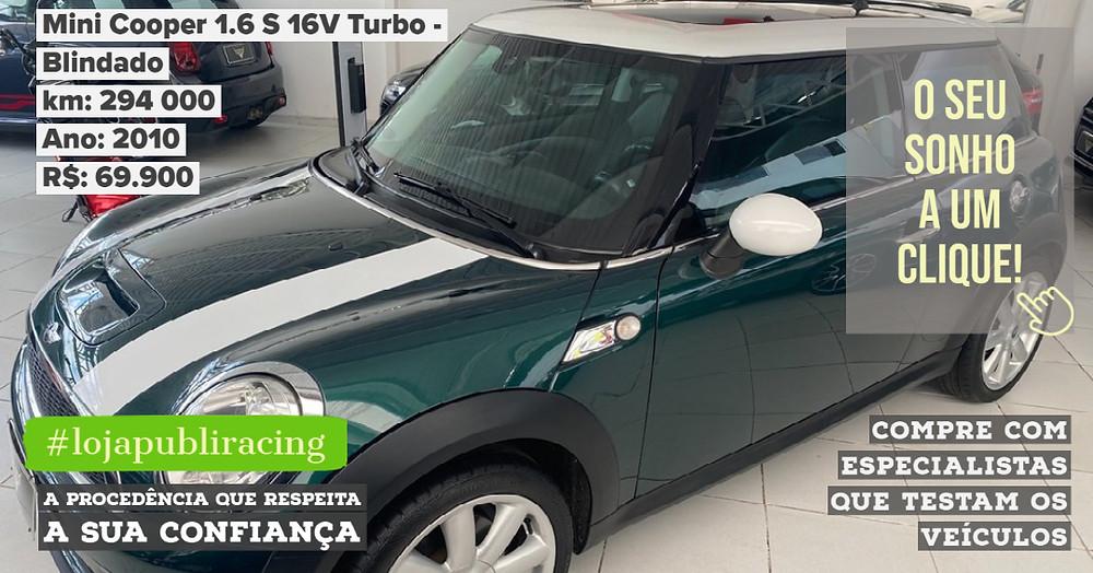 ACESSE #LOJA PUBLIRACING - Mini Cooper 1.6 Turbo Blindado