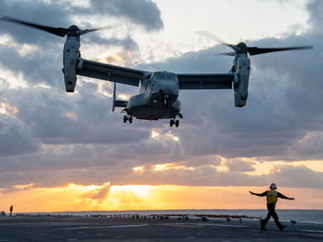 Aviação: Bell Boeing V-22 Osprey com 600 mil horas de voo ao longo de mais de 30 anos