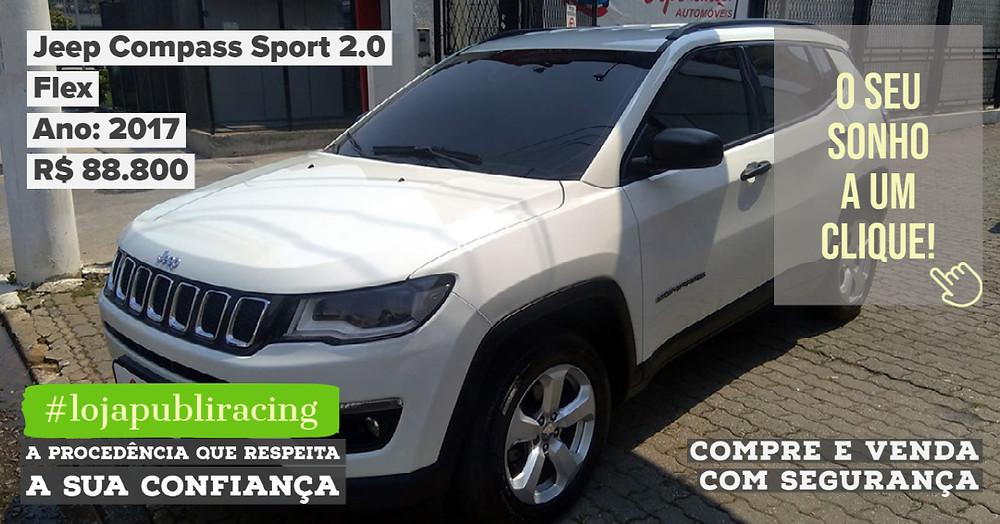 ACESSE #LOJA CLICANDO - Jeep Compass Sport 2.0 Flex - Ano 2017