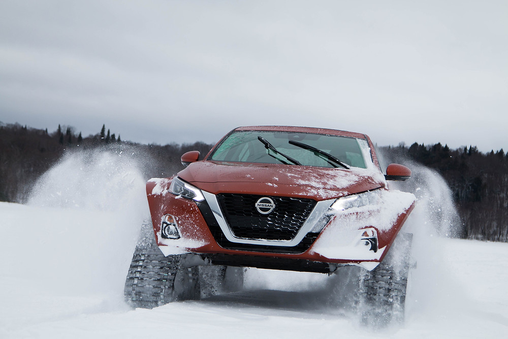 Nissan revela o fantástico Altima que encara a neve e o gelo