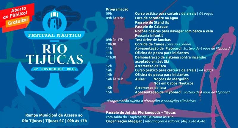 Festival náutico acontece no próximo sábado (27) em Tijucas  (SC)