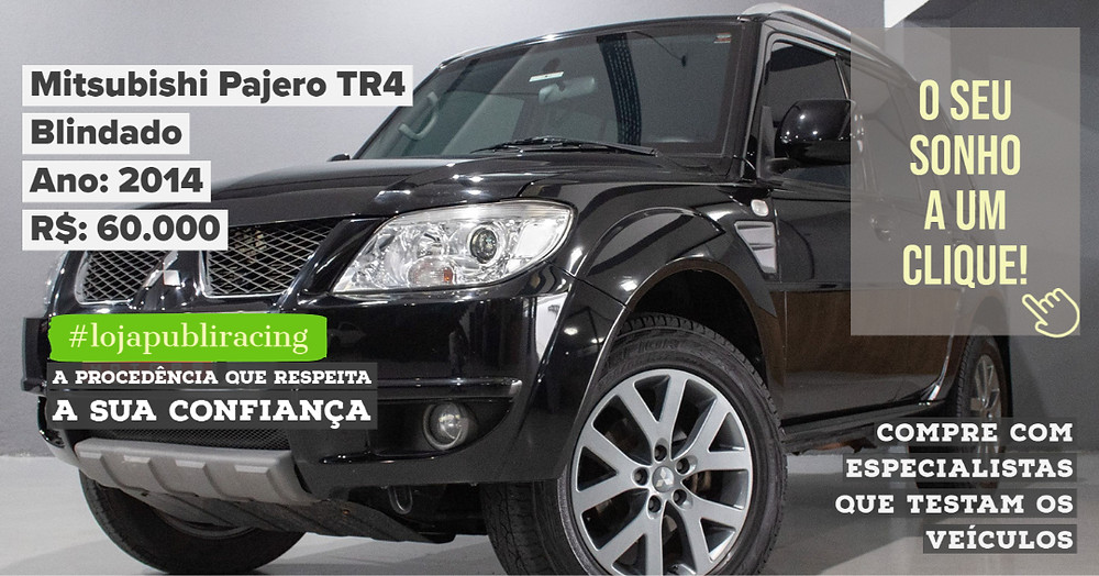 ACESSE #LOJAPUBLIRACING CLICANDO - Mitsubishi Pajero TR4 Blindado