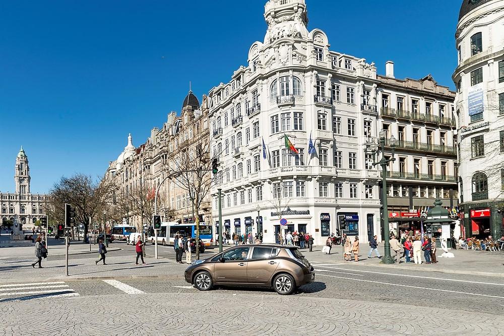 Custo zero nos 614,4 quilômetros percorridos com o Nissan LEAF na viagem de ida e volta,  Lisboa-Porto-Lisboa