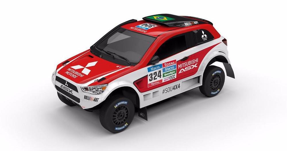 Novo layout do ASX Racing para o sertões 2016