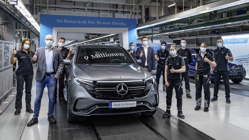 Fábrica de Bremen da Mercedes-Benz celebra 9 milhões de veículos produzidos