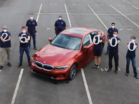 BMW Brasil celebra 25 mil unidades do Série 3 produzidos em sua fábrica em Araquari-SC