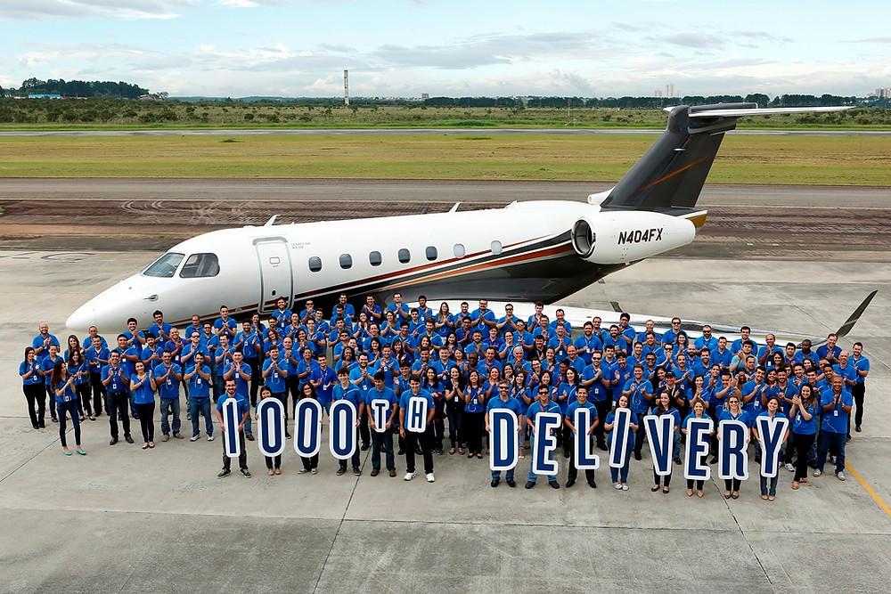 Entregue jato executivo número 1000 da Embraer