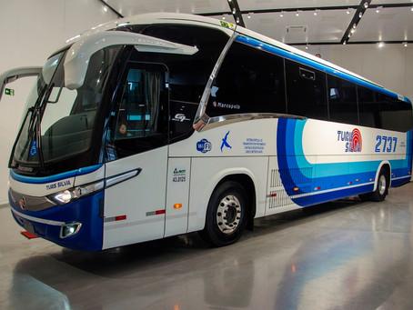 Scania, Gerdau, Turis Silva e Marcopolo apresentam primeiro ônibus a gás