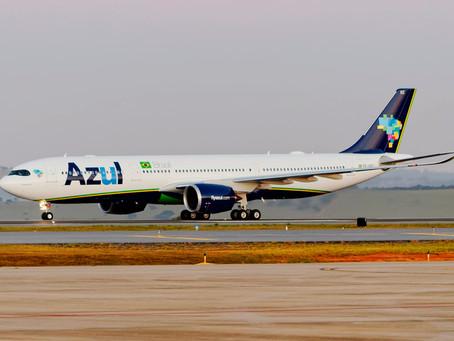 Azul realiza primeiro voo internacional com A330-900neo