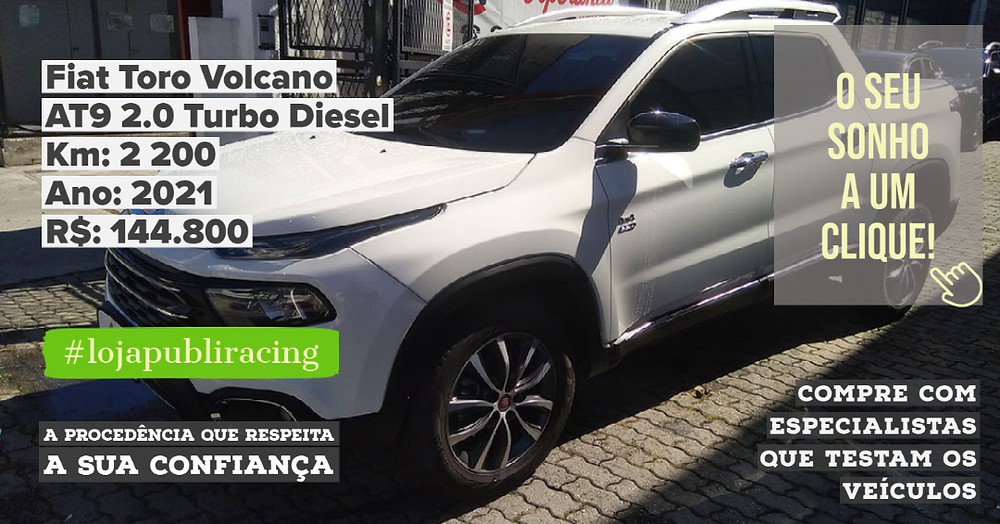ACESSE #LOJA PUBLIRACING - Fiat Toro Volcano Turbo Diesel