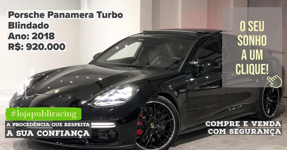 ACESSE #LOJAPUBLIRACING CLICANDO - Porsche Panamera Turbo Blindado - Ano 2018