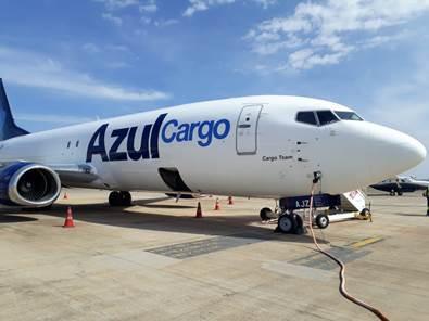 Azul Cargo Express recebe primeira aeronave cargueira