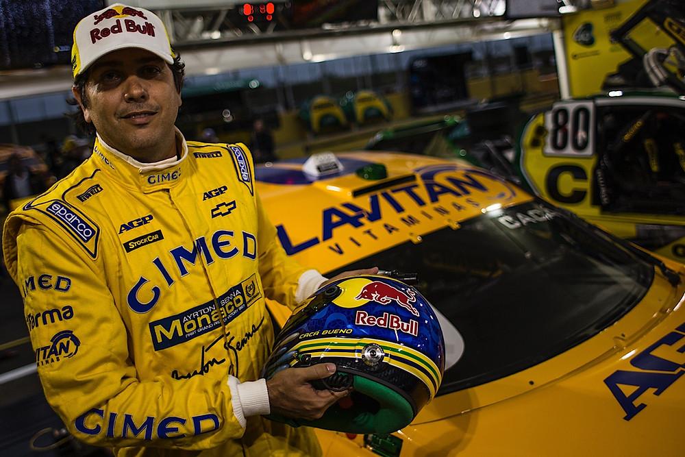Stock Car: Cacá Bueno com homenagem a Ayrton Senna em Santa Cruz do Sul