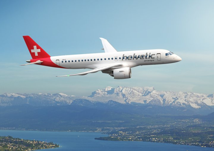 Helvetic Airways assina pedido firme para 12 jatos E190-E2