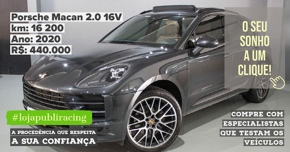 ACESSE #LOJA PUBLIRACING - Porsche Macan 2.0 16V Ano 2020