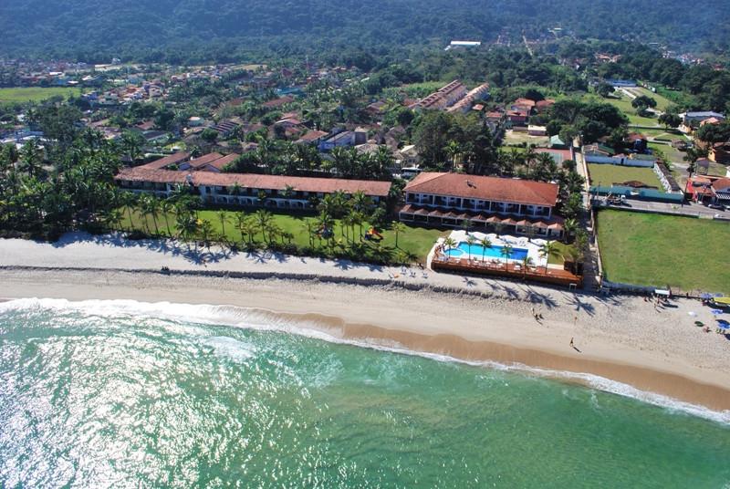 Vista aérea do Maresias Beach Hotel em São Sebastião (SP)