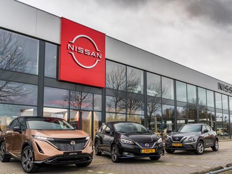 Nissan lança um novo logotipo em sua rede de concessionárias europeias