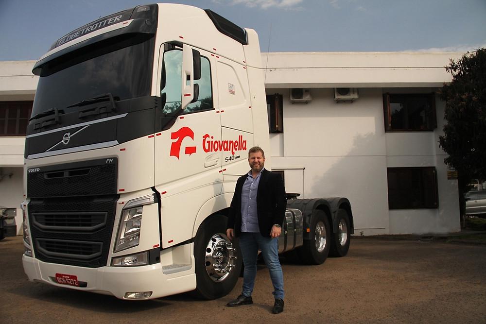 Jean Giovanella, diretor-proprietário da Paradiso Giovanella Transportes