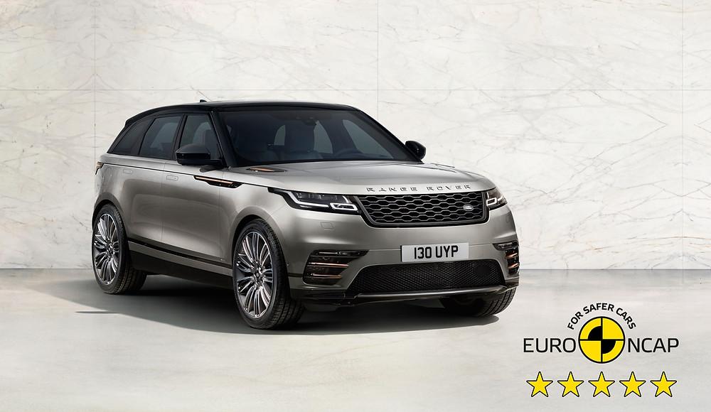 Novo Range Rover Velar abtém 5 estrelas nos testes de segurança da Euro NCAP