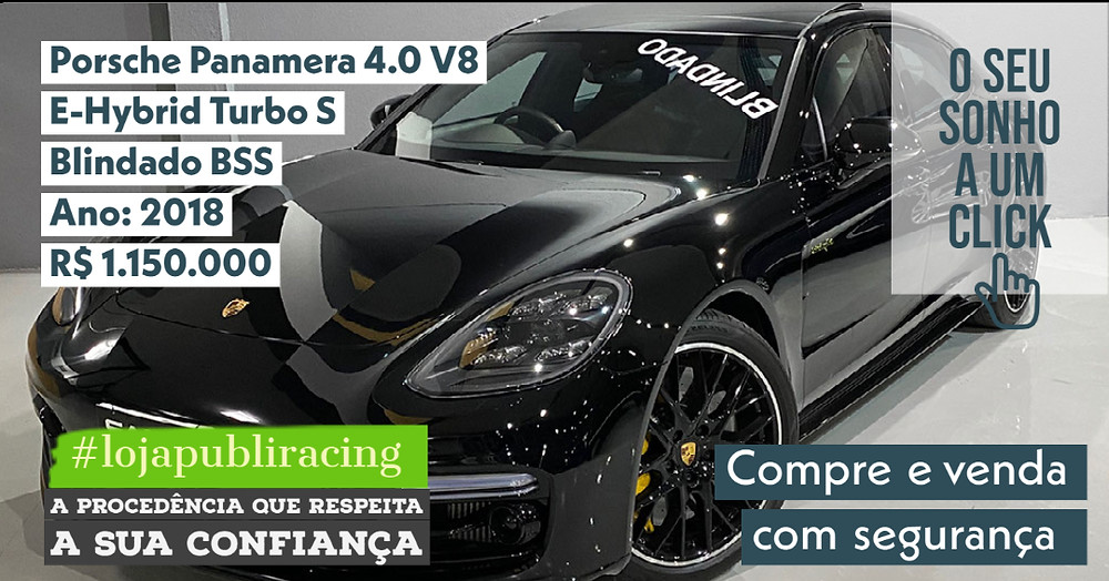 ACESSE #LOJA PUBLIRACING - Porsche Panamera 4.0 V8 Hybrid - Ano 2018