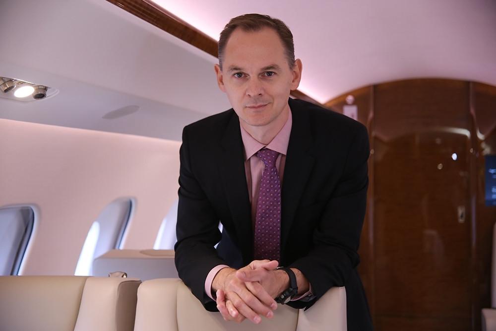 """Entrevista exclusiva com Stephane Leroy, Vice-Presidente de Vendas para a região da América Latina da Bombardier. """"O Brasil é um mercado muito importante para a aviação executiva"""""""