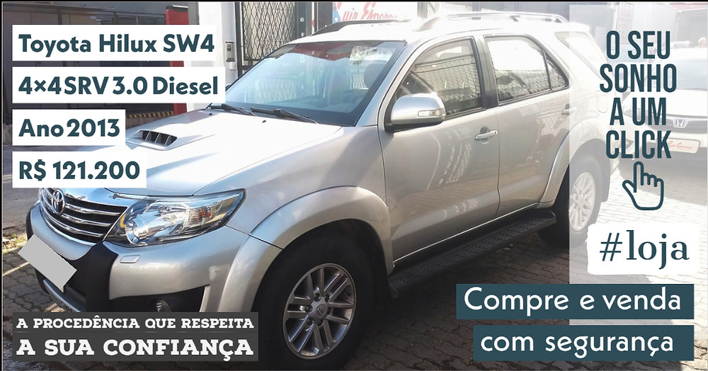 ACESSE #LOJA PUBLIRACING - Toyota Hilux SW4 3.0 Diesel - Ano 2013