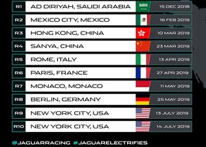 Calendário Jaguar I-PACE eTROPHY