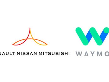 Aliança das marcas Renault, Nissan e Mitsubishi assina acordo com a Waymo para explorar serviços de