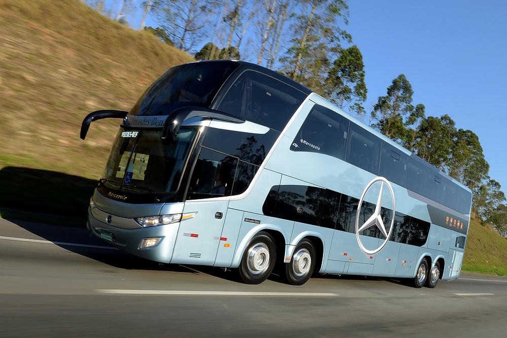 Com 62% de participação no mercado de ônibus, a Mercedes-Benz emplacou 2.217 unidades de janeiro a abril