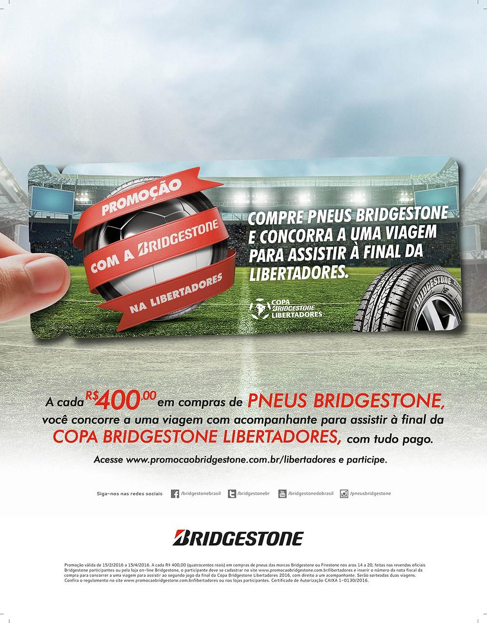 Bridgestone lança promoção que leva torcedor para final da Libertadores