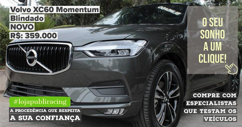 ACESSE #LOJAPUBLIRACING CLICANDO - Volvo XC60 Momentum NOVO Blindado