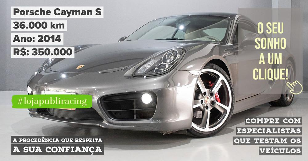 ACESSE #LOJAPUBLIRACING CLICANDO - Porsche Cayman S