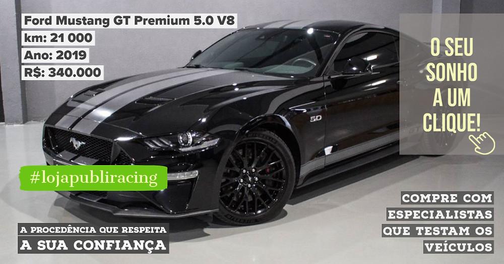 ACESSE #LOJA PUBLIRACING - Ford Mustang GT Premium 5.0 V8