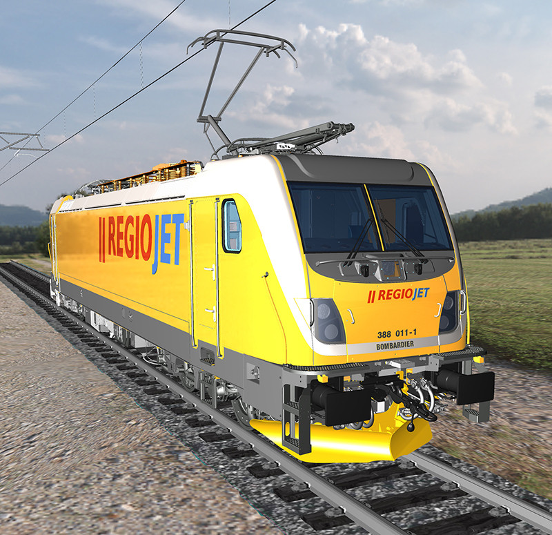 Bombardier fornecerá quinze locomotivas para a República Tcheca destinadas a trens de passageiros