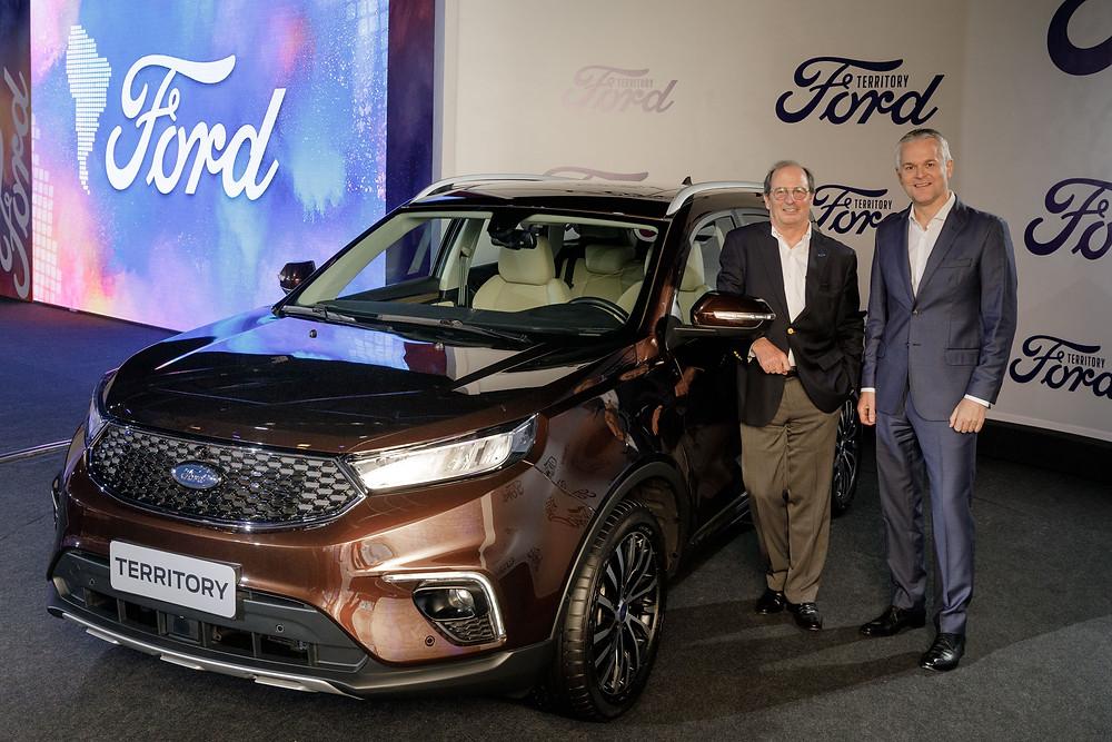 Ford anuncia o lançamento do SUV Territory no Brasil e na Argentina