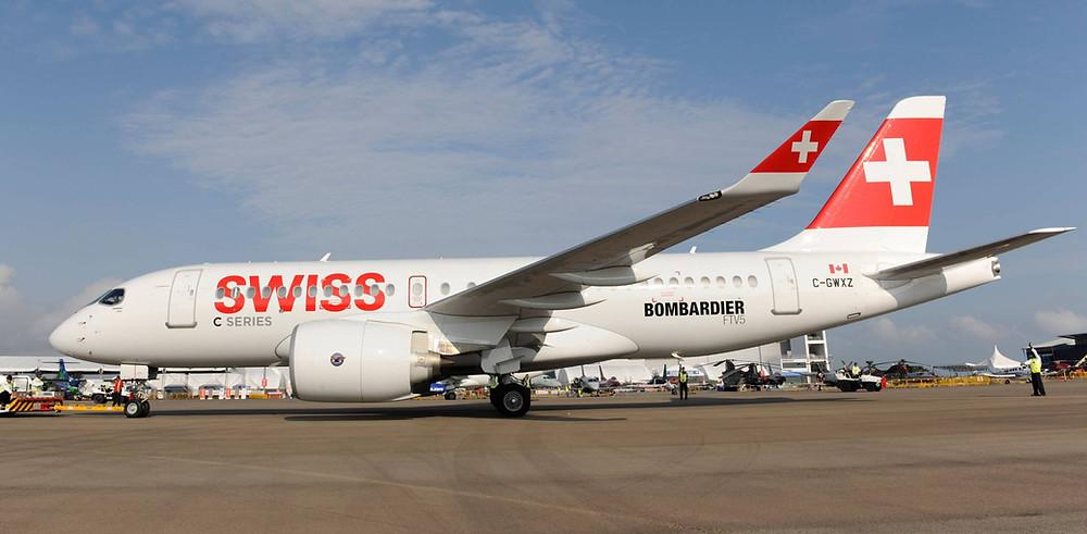 Swiss se torna a primeira companhia aérea a servir o aeroporto London City com o Bombardier C Series
