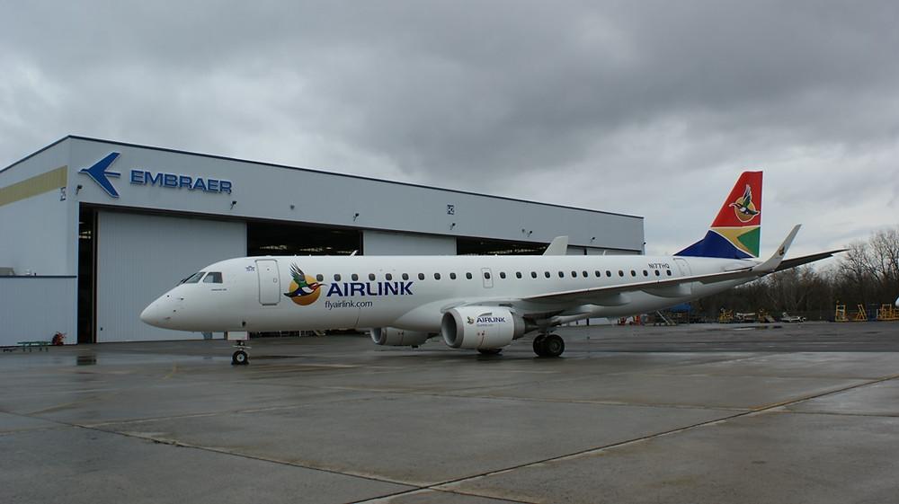 Airlink se torna primeira companhia aérea da África do Sul a adquirir os E-Jets