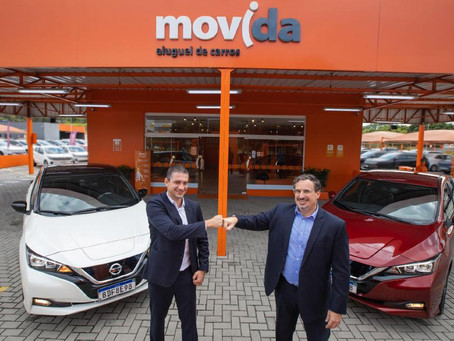 Nissan vai entregar 50 unidades do 100% elétrico Nissan Leaf para a Movida