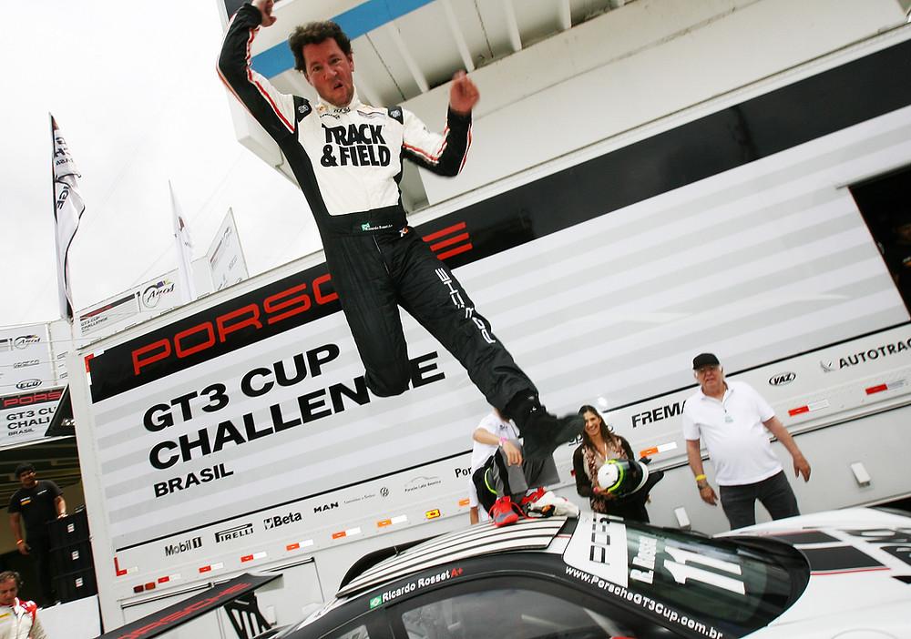 Ricardo Rosset conquista tricampeonato da Porsche GT3 Cup em Interlagos