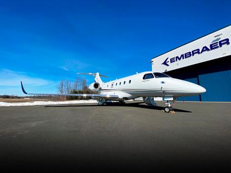 Aviação: Embraer entrega nova conversão do Praetor 500 à AirSprint